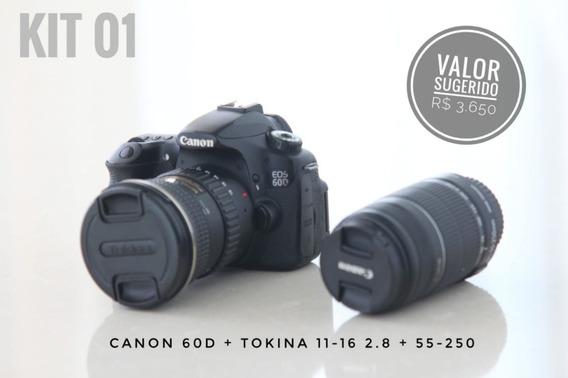 Canon 60d (kit) + Tokina 11-16 2.8 + 55-250 Is