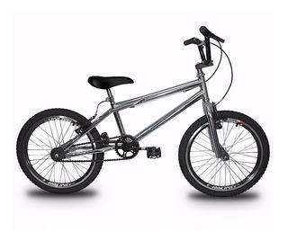 Bicicleta Aro 20 Cromada Freios V-brake Modelo Cross Bike