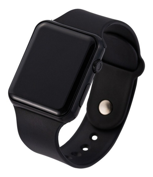 Relógio Led De Pulso Digital Masculino Feminino Preto Barat