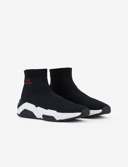 Tênis Armani Exchange High Sock Sneakers