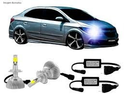 Kit Par Lampada H1 Xenon Super Led 6500k Drl 5000 Lumens