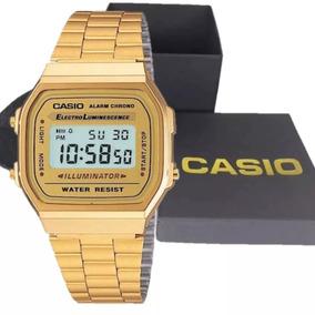 Relogio Cassio De Luxo Original Preto/dourado + Caixa Cassio