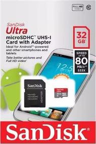 Microsdhc Uhs-i Sandisk Ultra 32gb 80mb/s Full-hd Classe 10
