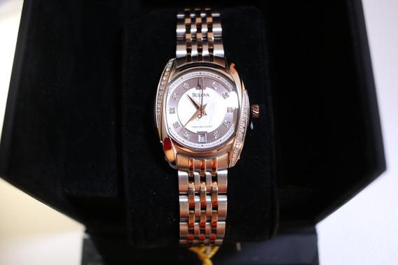 Relógio Fem. Bulova Precisionist Diamond Wb27529s/98r141!!