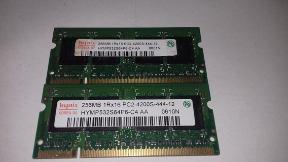 Memória 256mb 1rx16 Pc2-4200s-444-12 Notebook Ddr2 (kit 2pç)