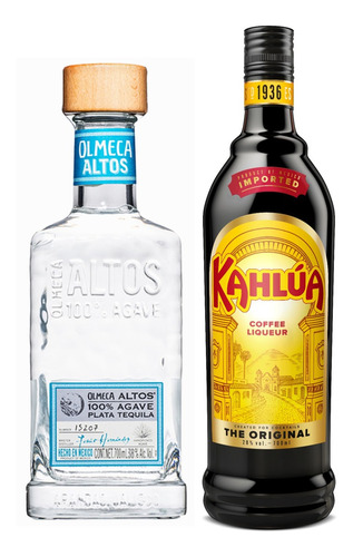 Kit Licor De Café Kahlúa 750ml + Tequila Altos Plata 750ml