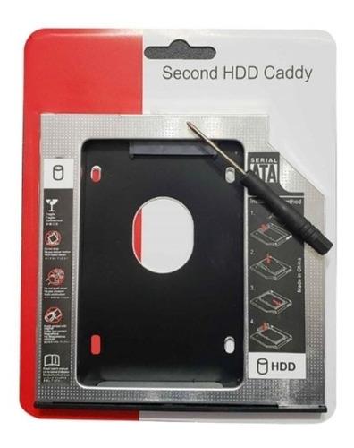 Imagen 1 de 4 de Adaptador Caddy Dvd Rw A Disco Duro 2.5 Hdd Sata 9.5mm 12.7