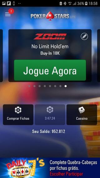 Poker Stars Dinheiro Virtual Quase 1 Milhão