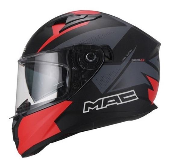Casco Moto Doble Visor Mac Speed 2.0 Disco Raven Devotobikes