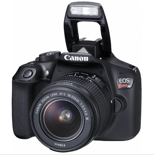 Câmera Canon Eos Rebel T6 Kit 18-55 + Cartão 32gb + Bolsa