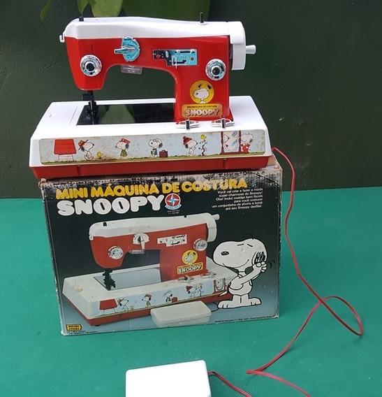 Estrela Antiga Mini Maquina De Costura Snoopy Na Caixa