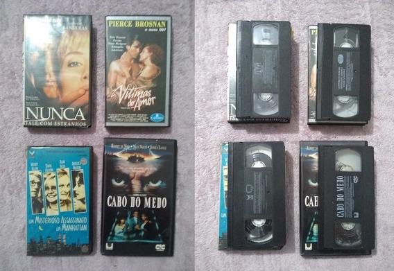 Lote Com 4 Filmes Em Vhs Suspense