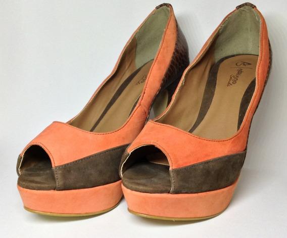 Sapato Feminino / Sandália Feminina De Salto Alto - Tam. 37
