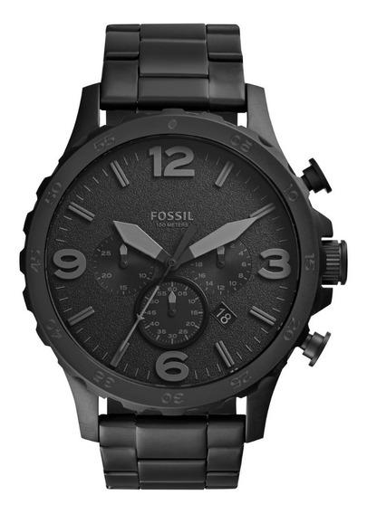 Reloj Caballero Fossil Jr1401 Color Negro De Acero