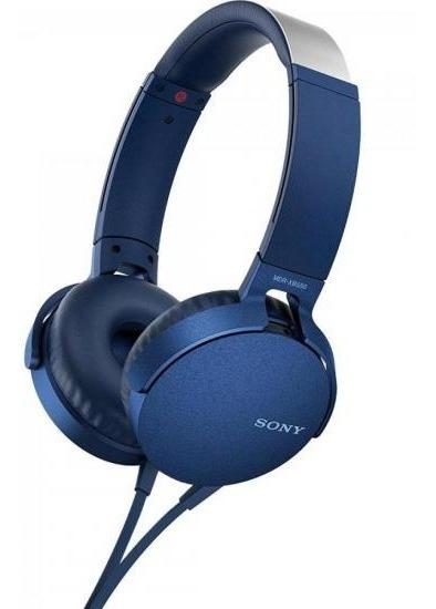 Fone De Ouvido Forte Com Microfone Mdr-xb550ap/l Azul Sony