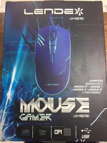 Mouse Gamer Lendex Ld-mog760 Led Azul