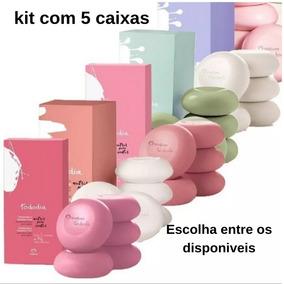 Kit 5 Caixas Sabonetes Com 5 Unidades 90g Natura Promoção