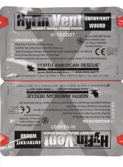North American Rescue Hyfin Vent Chest Seal, 2 Parches