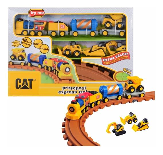 Cat Tren Con Luz Y Sonido 18 Piezas Original Intek