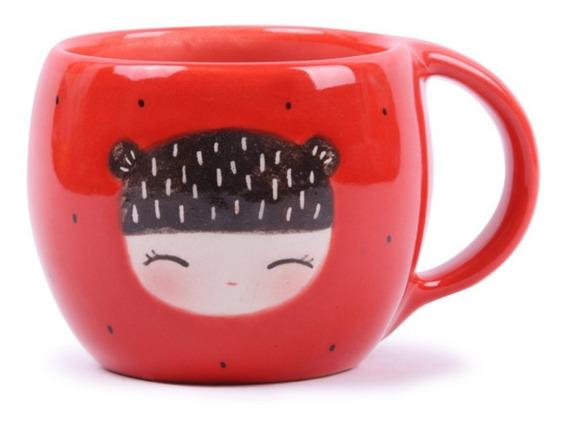 Mug Kokeshi Rojo