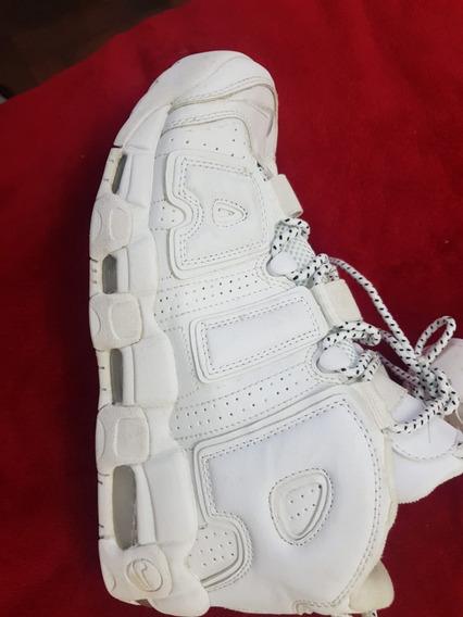 Zapatillas Uptempo Basquet Air Blancas,