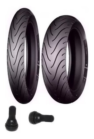 Par De Pneu Michelin 110-80-14 E 80-90-17 Pilot Street Biz 100 110 125 Pop 100 110 E Bicos