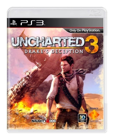 Jogo Original Lacrado Uncharted 3 Ps3 Pronto Entrega