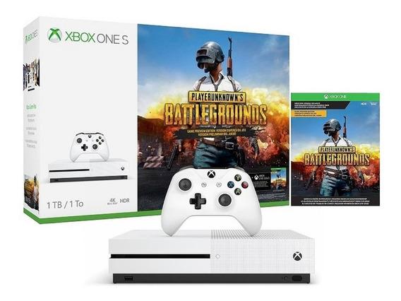 Consola Xbox One S 1tb Hdr 4k Ultra Hd Blu-ray Bundle Pubg Xbox Live Gold Game Pass