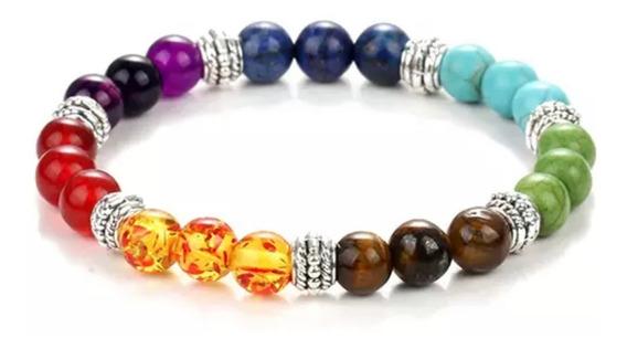 Pulsera Brazalete 7 Chakras Piedras Naturales Ajustable Balance Emocional & Espiritual