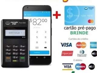 Maquininha Point Mini Mercado Pago Debito E Credito Sem Mens