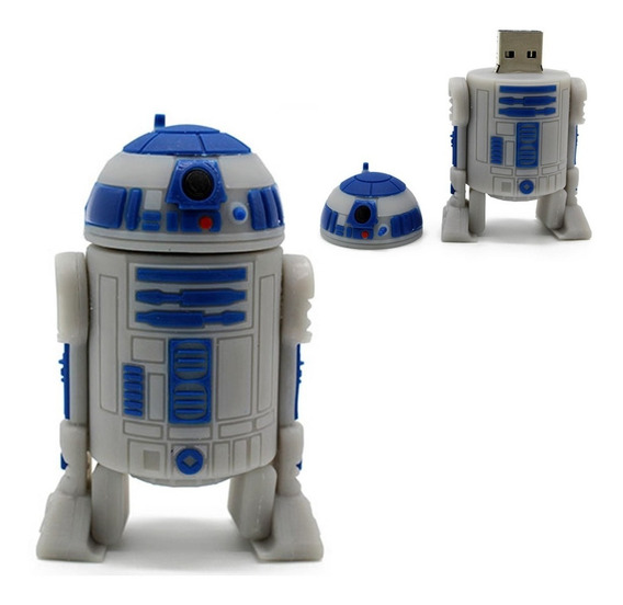Pendrive De 32gb Personalizado Star Wars Robô R2-d2 Coleção