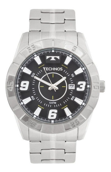 Relógio Technos Original Masculino Prateado 2115kyx/1p C/ Nf