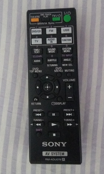 Controle Remoto Do Home Theater Sony Dav-tz210