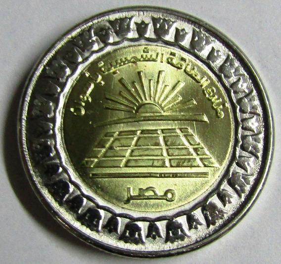 Egipto Moneda Bimetalica 1 Pound 2019 Aswan Paneles De Energ