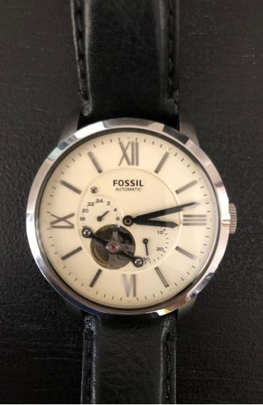 Relógio Fossil Analógico Automatic Me3064 Couro Marrom E Pre
