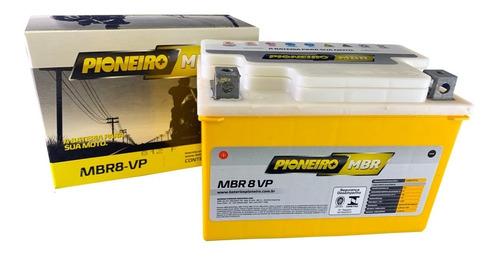 Imagem 1 de 4 de Bateria Agm Pioneiro Mbr8vp Honda Vt 600c/ Cd Shadow Delux
