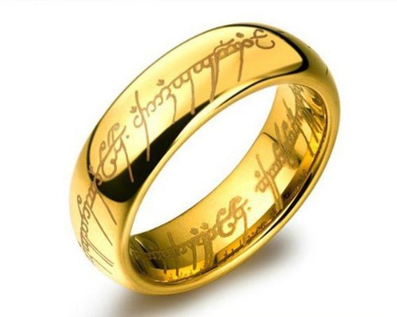 Um Anel O Senhor Dos Anéis Lord Of The Rings Dourado/ Ouro