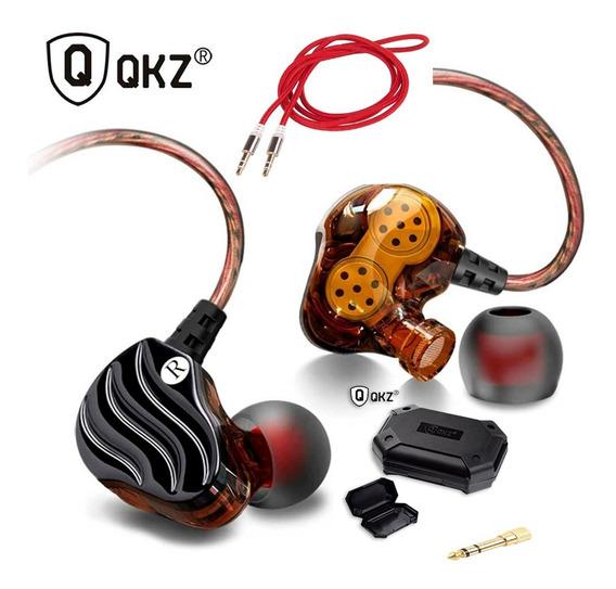 Fones De Ouvido In-ear Qkz Kd4 Monitor De Palco Profissional
