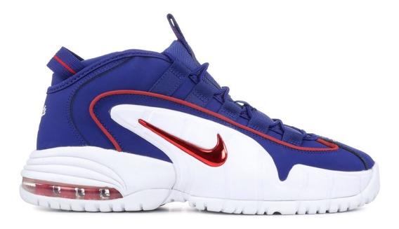 Tenis Nike Air Max Penny Le, Azul Con Rojo