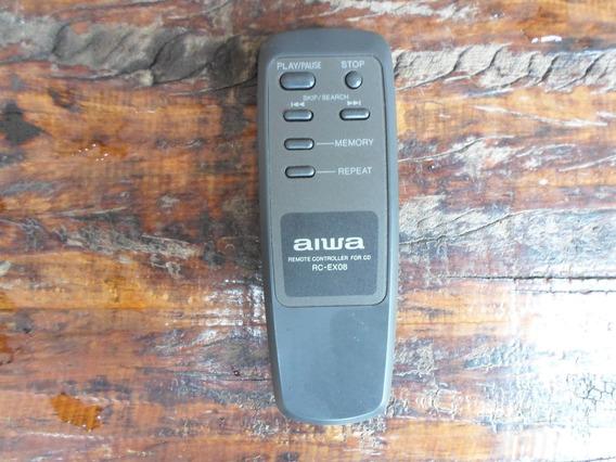 Controle Remoto Aiwa Original Rc-ex08 Usado O Mais Barato