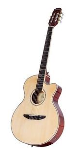 Guitarra Clásica Electrocriolla Parquer Media Caja Con Funda