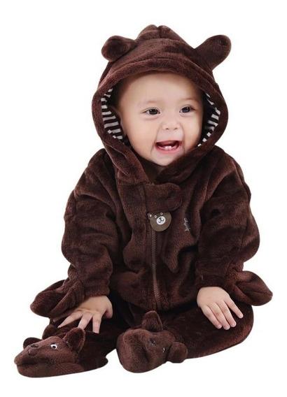 Macacão Infantil Urso Fantasia Parmalat Bebê