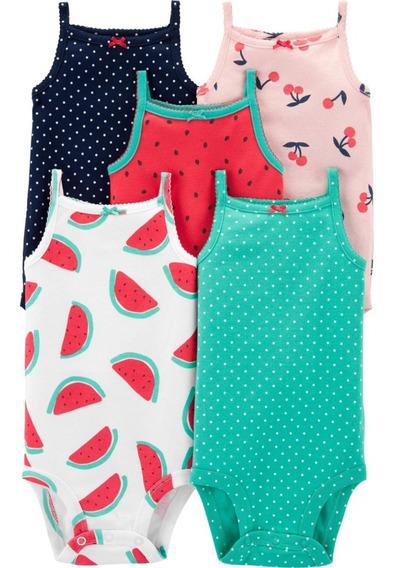 Bodys Carters Bodysuits Pack 5 Mangas Cortas Musculosa Nena Varon Nb 3m 6m 9m 12m 18m 18m 24m Algodon Premium Importado