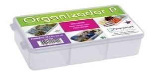 Caixa Organizador Plastico Com 5 Divisorias 16 X 9 X 3,5 Cm