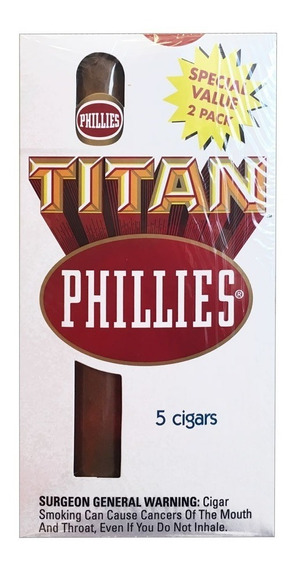 Phillies Original Caja X5 Titan Cigarros Tabaco Habanos Puro