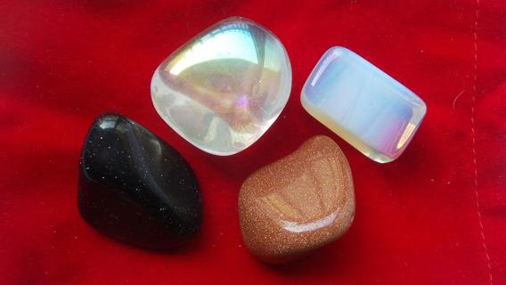 Kit Pedra Do Sol, Da Lua, Estrela E Cristal Anjo