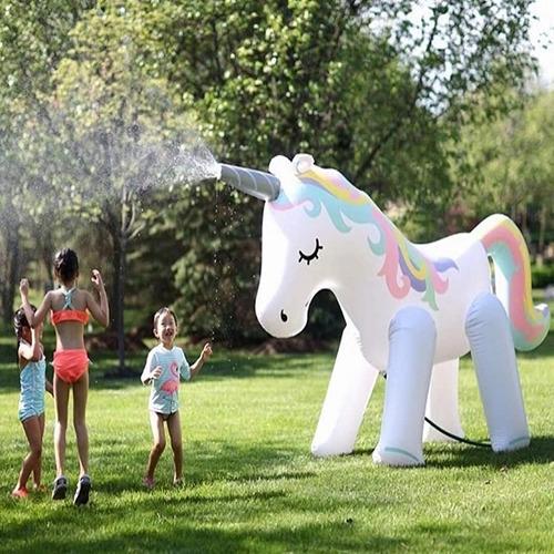 Aspersor De Unicornio Inflable Gigante Alto 180cm Bestoys