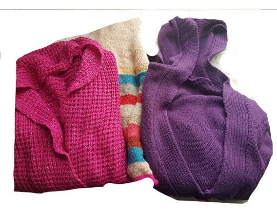 Campera Tejida+sweter Overside+cuellito+regalo