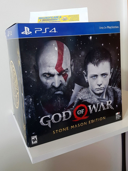 God Of War Stone Mason Ed. Novo Ps4 Pronta Entrega No Brasil