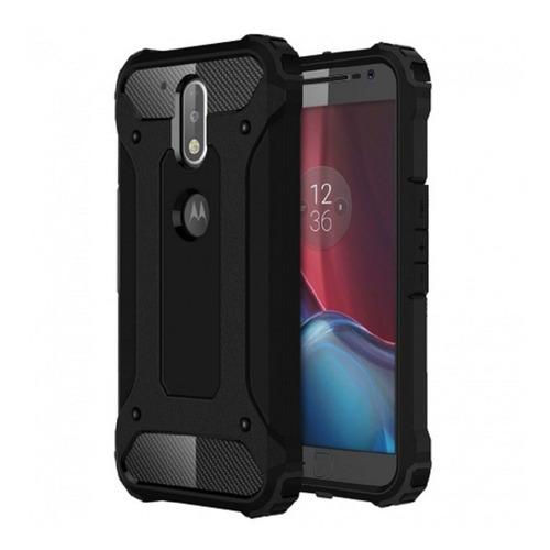 Super Armor + Vidrio Templado Motorola E4 Plus Z2 G4 Play